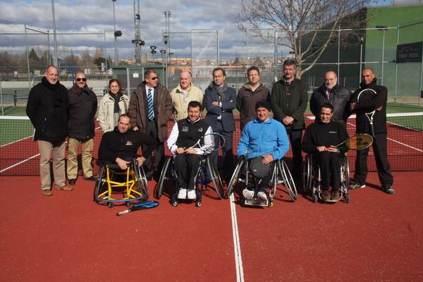 Presentación de la Escuela de Tenis en silla de ruedas de Getafe.