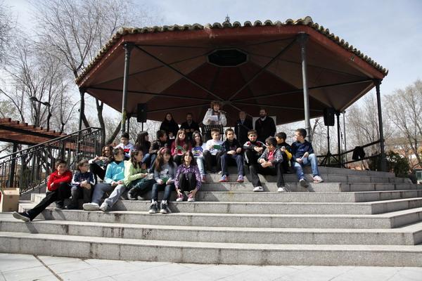 Algunos de los participantes en el Día mundial de la poesía