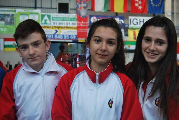 La representación getafense estuvo compuesta por Héctor Blanco, Sara Chavero y Amanda Blanco