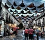 Fotografía en color de las cometas de la calle Madrid, de Rubén Galán