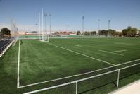 Campo de césped artificial en el polideportivo de El Bercial
