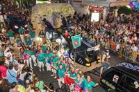 Primer premio del Desfile de Carrozas, a la creación de la Peña Cultural San Isidro, 'The Batmobile'