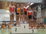 Grupo de juveniles, Raquel con el oro, Andrea con el bronce, Pablo plata y Adrián bronce