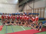 Grupo de gimnastas nivel B