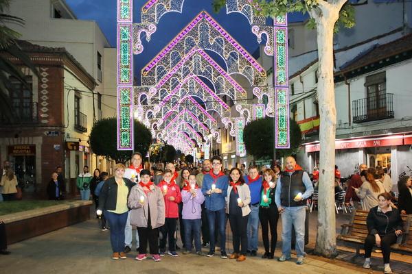 Encendido de la iluminación de las Fiestas a cargo de APANID