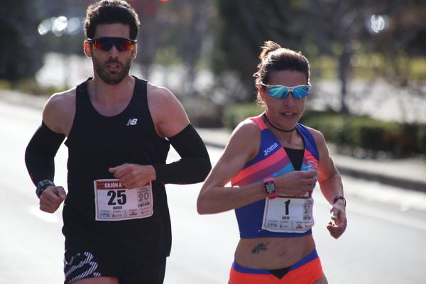 Lucía Morales en carrera