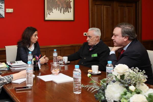 Sara Hernández, Jesús Prieto y Juan Soler