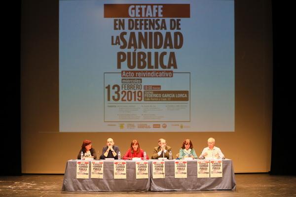 Acto en defensa de la sanidad pública