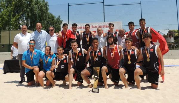 Imagen de archivo de la primera edición del Campeonato de España de Selecciones de Autonómicas Juveniles de Balonmano Playa