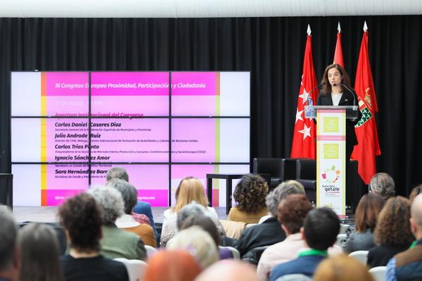 Sara Hernández, alcaldesa de Getafe y presidenta de la fundación Kaleidos.red