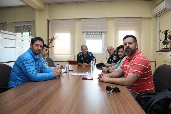 Reunión del jefe de la Policía Local con los representantes de los hosteleros de Getafe